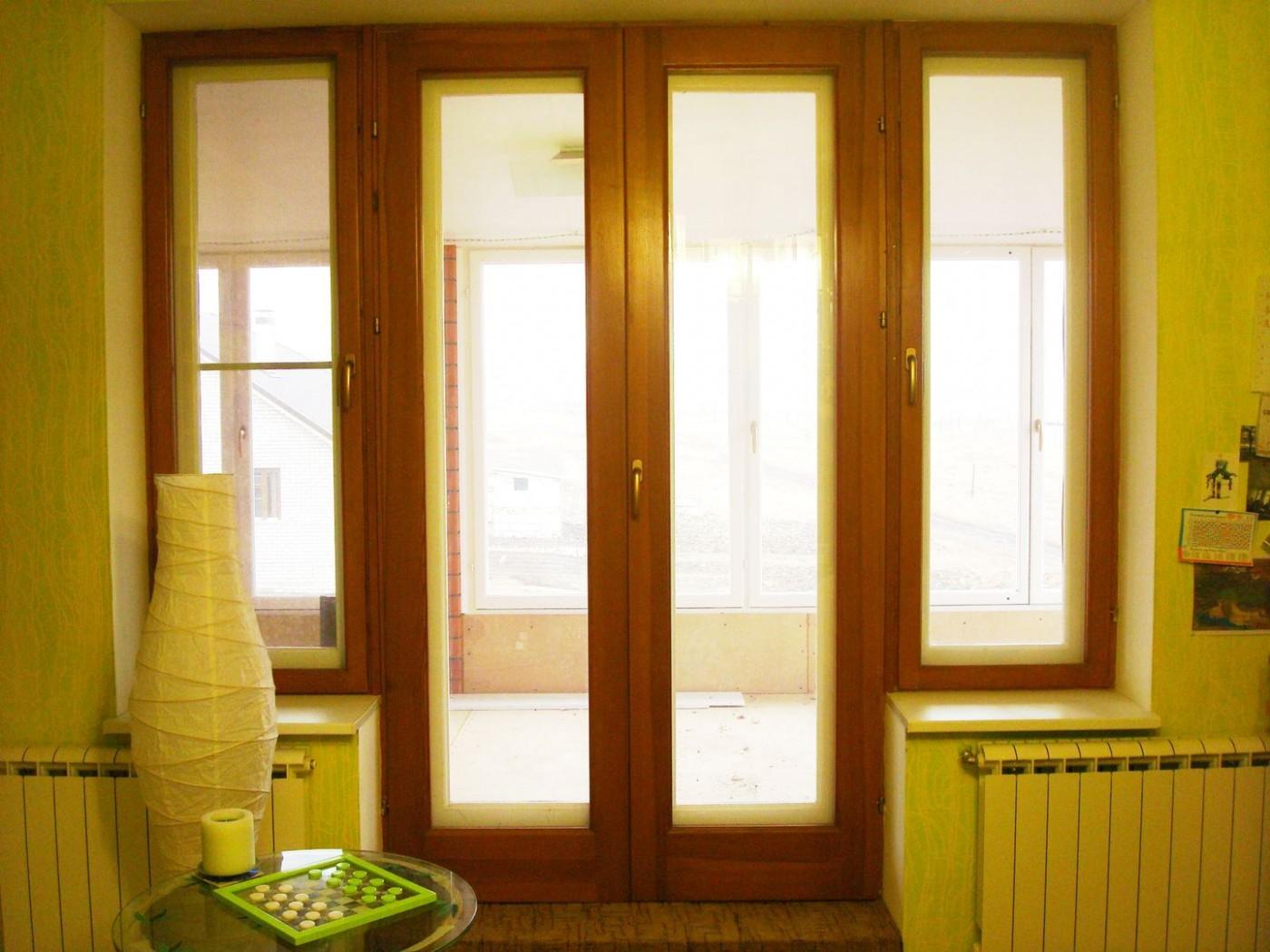 Балконные двери французский блок пластиковые фото цены..